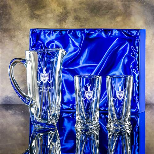 Engraved Barley Jug and Barley Hiball Glasses Gift Set