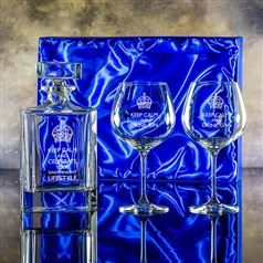 Atlas Gin Decanter & Two Gin Blooms presentation boxed set