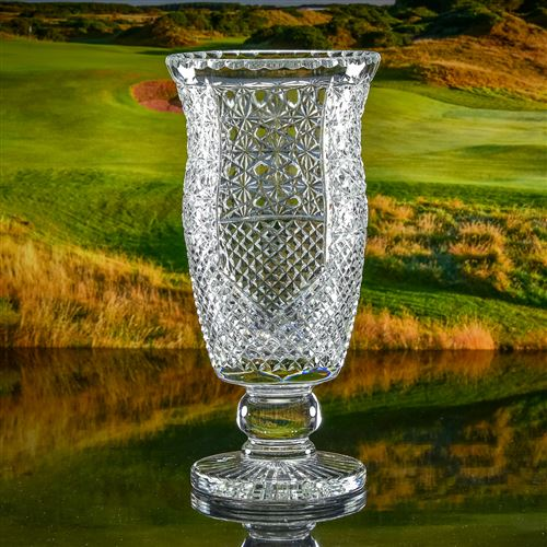 Engraved Crystal Cheshire Vase