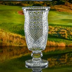 Crystal Engraved Cheshire Vase