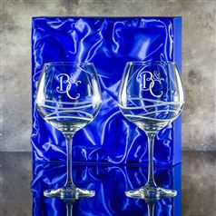 Gin Swirl Bloom Presentation boxed pair crystal