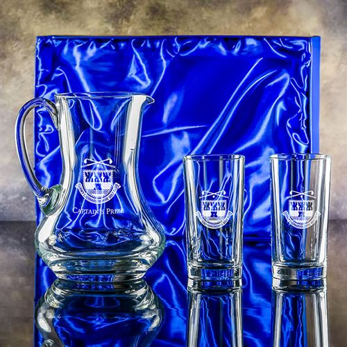 Engraved Crystal Leander Jug and Toscana Hiball Pa