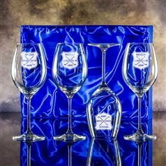 Four Lydia Goblet Glasses Gift Set
