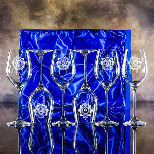 Engraved Crystal Lydia Goblets presentation boxed