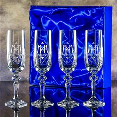 Four Edward Champagne Flutes Gift Set