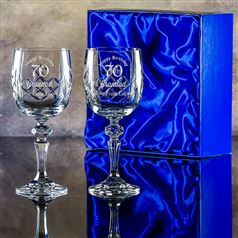 Two Edward Goblet Glasses Gift Set