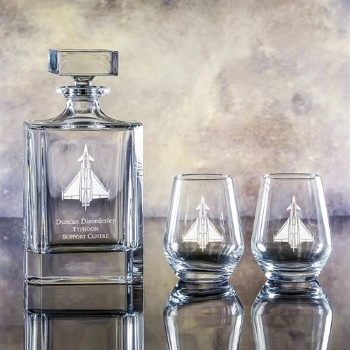 Atlas Gin Decanter and Gin Tumblers Gift Set