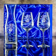Swirl Carafe & Two Swirl Goblets Presentation boxed