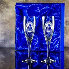 Handcut Forest Flutes Presentation boxed as a pair