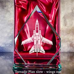 Tornado Plan View Slow Wings Out Aircraft