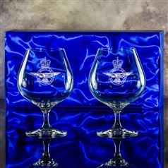 Two Brandy Balloon Glasses Gift Set