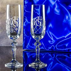 Two Engraved Edward Flutes Gift Set