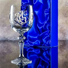 Engraved Edward Goblet Glass Gift