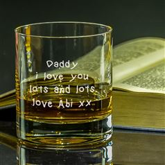 Engraved Handwriting Tumbler Glass