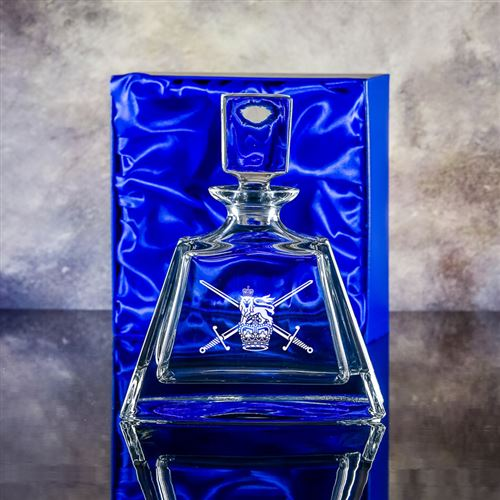 Admissable Crystal Engraved Decanter Gift