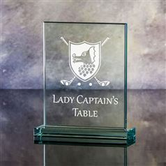 Large Rectangular Captain's Table Plaque