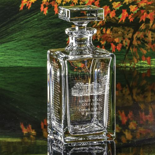 Engraved Crystal Captain's Captains Decanter