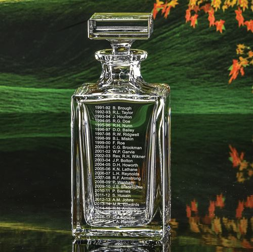 Crystal Engraved Captain's Decanter