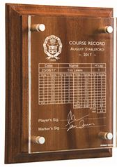 Wall Mounted Golf Scorecard