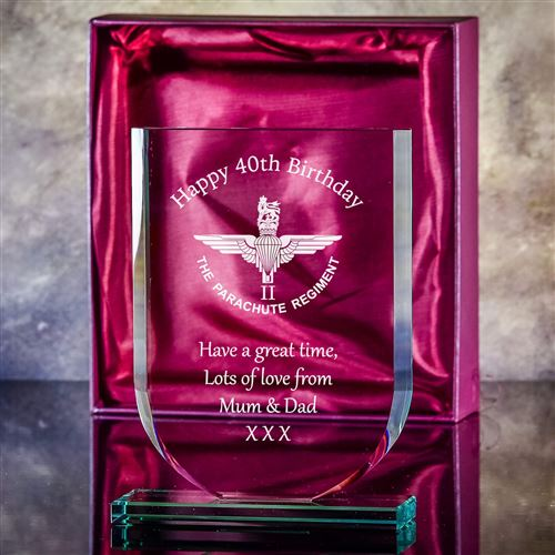 Medium Crystal Engraved Shield Plaque