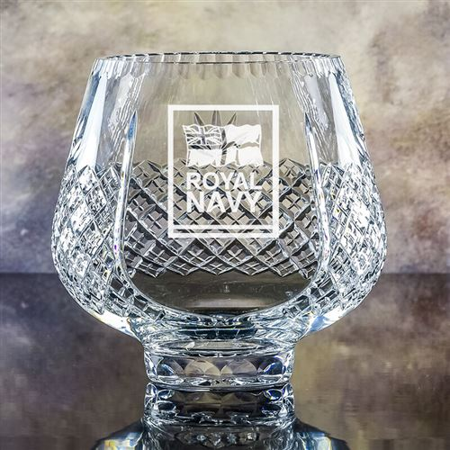 Large Crystal Engraved Trophy Bowl