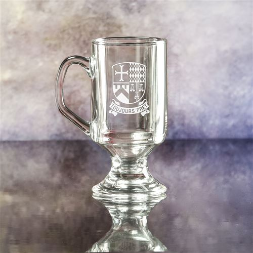 Gaelic Crystal Engraved Coffee Glass
