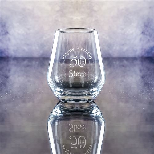 Crystal Engraved Gin Tumbler Glass