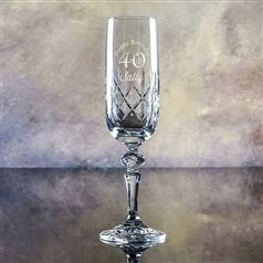 Edward Cut Crystal Engraved Flute