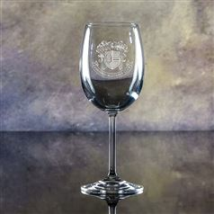 Sierra Crystal Engraved Wine Glass