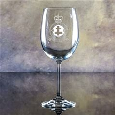 Crystal Engraved Sierra Goblet Glass