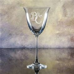 Crystal Engraved Gracious Wine Glass