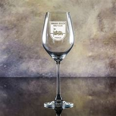 Crystal Engraved Lydia Wine Glass