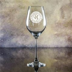 Lydia Engraved Crystal Goblet Glass