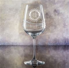 Crystal Engraved Swirl Wine Glass
