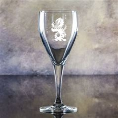 Crystal Engraved Forest Goblet Glass