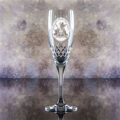 Hand Cut Crystal Engraved Forest Flute