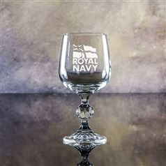 Claudia Small Crystal Engraved Wine Glass