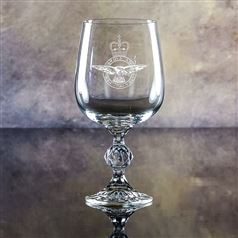 Claudia Crystal Engraved Goblet Glass