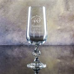 Claudia Crystal Engraved Lager Glass