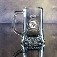Small Crystal Engraved Stern Tankard