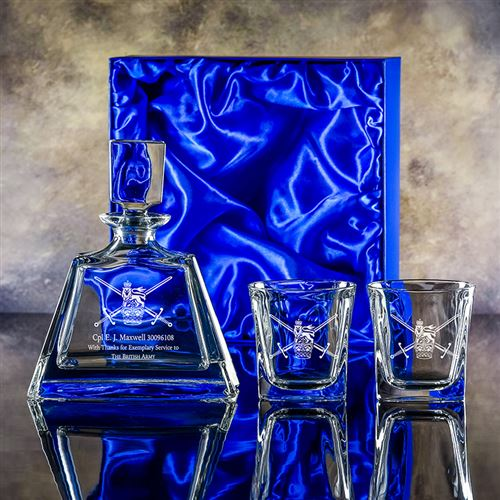 Presentation Boxed Admissable Decanter with Two Admittable Tumblers Set