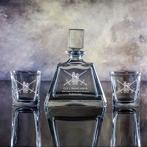 Crystal Admissable Decanter and Admittable Tumblers Gift Set