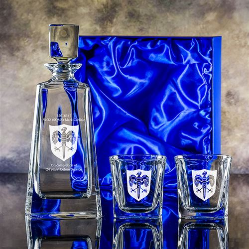 Presentation Boxed Admirable Decanter with Two Admittable Tumblers Set